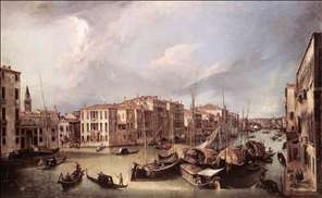 Grand Canal: Looking North-East toward the Rialto Bridge