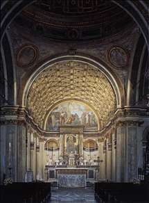 Interior view toward choir