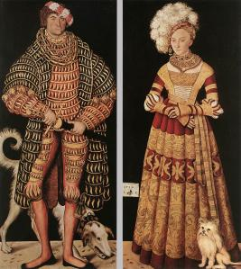 Portraits of Henry the Pious, Duke of Saxony and his wife Katharina von Mecklenburg