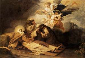 The Death of St Anthony the Hermit