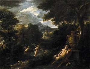 Faun and Cupid in a Landscape