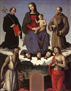 Madonna and Child with Four Saints (Tezi Altarpiece)