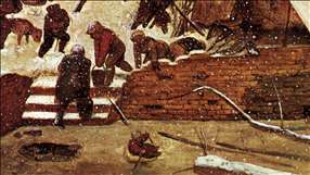 Adoration of the Kings in the Snow (detail)