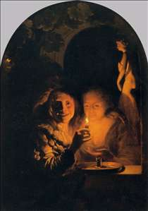 Lovers Lit by a Candle