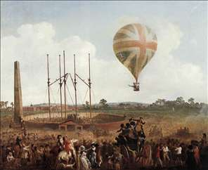 George Biggins' Ascent in Lunardi' Balloon
