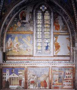 Frescoes in the fourth bay of the nave