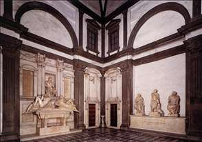 View of the Medici Chapel