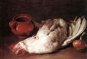 Still-Life with Hen, Onion and Pot