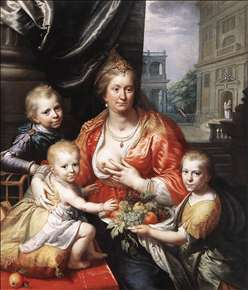 Sophia Hedwig, Countess of Nassau Dietz, with her Three Sons