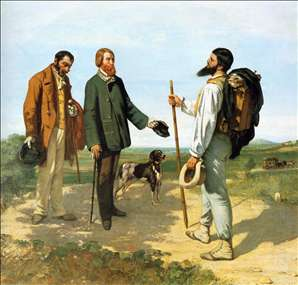The Meeting or Bonjour Monsieur Courbet