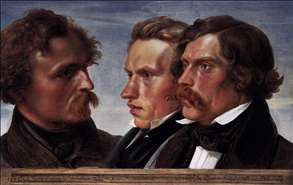 Carl Friedrich Lessing, Carl Sohn, and Theodor Hildebrandt