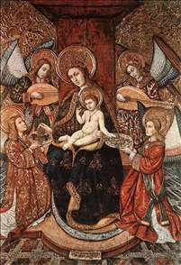Madonna with Music-Making Angels