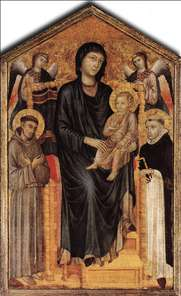 Madonna Enthroned with the Child, St Francis St. Domenico and two Angels
