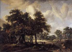 Wooded Landscape with Cottages