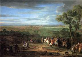 Louis XIV Arriving in the Camp in front of Maastricht