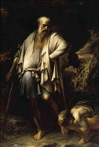 Diogenes Casting away his Cup