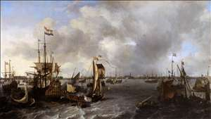 View of Amsterdam with Ships on the Ij