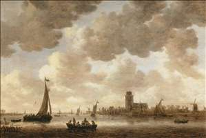 The Meuse at Dordrecht with the Groote Kerk