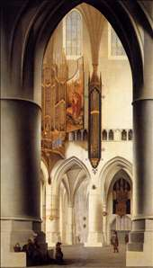 Interior of the Church of St. Bavo in Haarlem