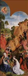 Calvary Triptych (left wing)