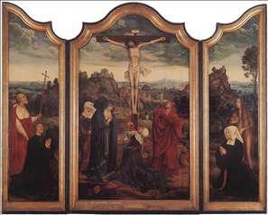 Christ on the Cross with Donors
