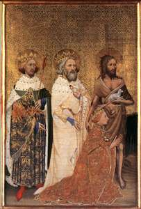 Wilton Diptych: Richard II of England with his patron saints