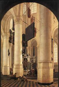 New Church in Delft with the Tomb of Willem the Silent