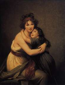 Self-Portrait with Her Daughter, Julie