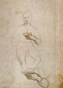 Study of a Seated Figure and Hand