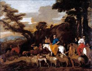 Jacob Leading the Flocks of Laban