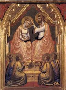 Baroncelli Polyptych: Coronation of the Virgin