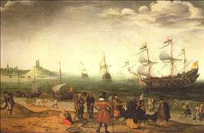 Coastal Landscape with Ships
