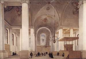 Interior of the Church of St Anne in Haarlem