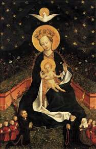 Madonna on a Crescent Moon in Hortus Conclusus