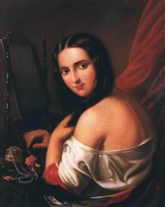 Woman Seated before a Mirror
