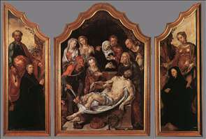 Triptych of the Entombment