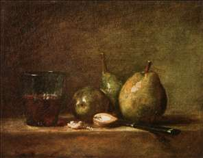 Pears, Walnuts and Glass of Wine