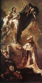The Virgin Appearing to St Philip Neri