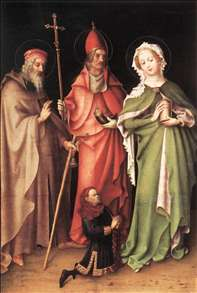 Saints Catherine, Hubert and Quirinus with a Donor