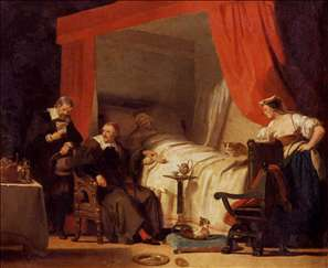 Cardinal Mazarin at the Deathbed of Eustache Le Sueur