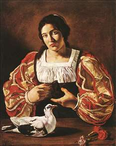 Woman with a Dove