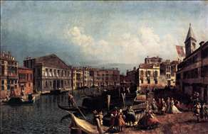 The Grand Canal with the Ca' Rezzonico and the Campo San Samuele