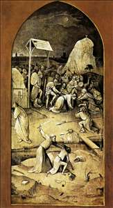 Triptych of Temptation of St Anthony (outer left wing)