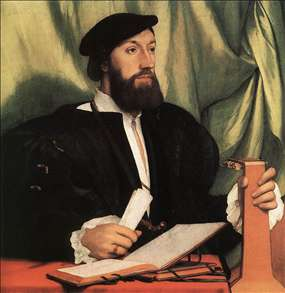 Unknown Gentleman with Music Books and Lute