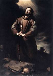 St Francis of Assisi at Prayer
