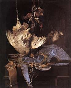 Still-Life with Hunting Equipment and Dead Birds