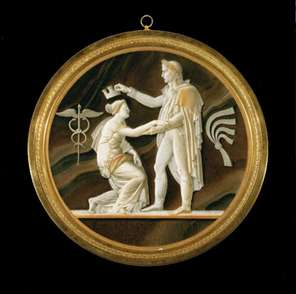 Cameo-style Plaque: The Freeing of Dantzig