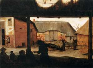 Farmyard with a Beggar