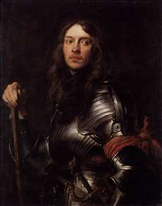 Portrait of a Man in Armour with Red Scarf