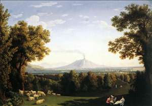 Landscape with the Palace of Caserta and Vesuvius
